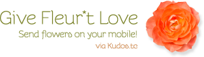 send flowers on your mobile with kudos.tc